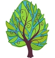 Cartoon tree isolated vector