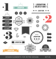 Hipster infographics elements vector
