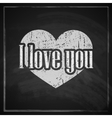 I love you abstract vintage background with vector