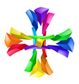 Abstract color composition on white background  cr vector