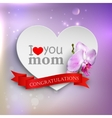 I love you mom abstract holiday background with vector