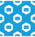 Letter hexagon pattern vector
