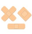 Adhesive bandage set vector