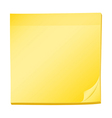 A topview of a pad of yellow post-it vector