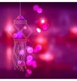Hanging kandil in diwali night vector