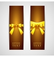 Greeting cards with yellow bows vector