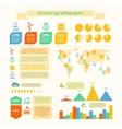 Eco energy infographic print vector