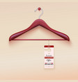 Red tag with special offer sign wooden hanger vector