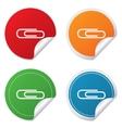 Paper clip sign icon clip symbol vector