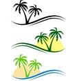 Palms set vector