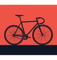 Detailed bike silhouette vector