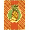 Pineapple fruit on vintage vector