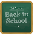 Chalkboard back to school text vector