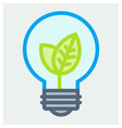 Young plant in light bulb poster vector