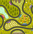 Road pattern with cars vector