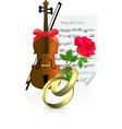 Wedding objects vector