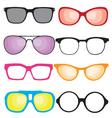 Retro sunglasses vector