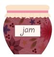 Vintage jam jar vector