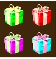Colorful present boxes vector