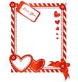 Valentine vertical card vector