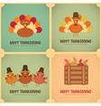 Thanksgiving day retro poster vector