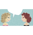 Talking ladies vector