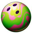 A bowling ball vector