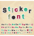 Sticker font vector