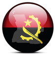 Map on flag button of republic of angola vector