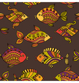 Fish pattern in abstract style copy square to the vector