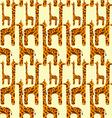 Giraffe seamless pattern vector