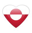 Greenland flag button vector