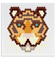 Mosaic tigers vector