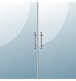Glass door vector
