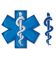 Medical symbol caduceus snake vector