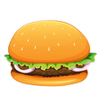 A big hamburger vector