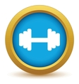 Gold weight icon vector