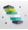 Modern business steps to success vector