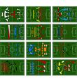 Football fields vector
