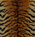 Tiger stripped mosaic background vector