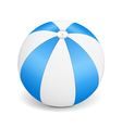 Blue beach ball vector