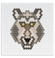 Mosaic wolf vector