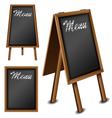 Wood blackboard set for menu vector