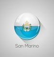 European flags set - san marino vector