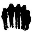 Silhouette of children vector