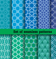Set 2 of seamless patterns vector