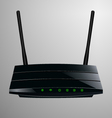Realistic of a black router vector