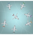 Airplanes routes vector