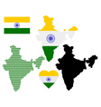 Map of india vector