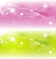 Two abstract spring background with sunlight vector